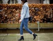 by funda,blogger,jeans,denim jacket,denim,jacket,shoes