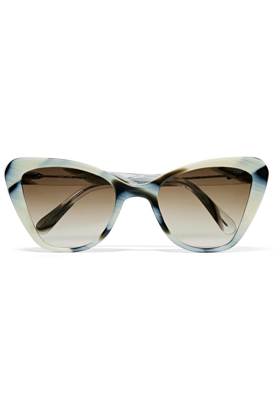 d59fcf49b85e TopShop Handmade Premium Acetate Cat Eye Sunglasses - White - Wheretoget
