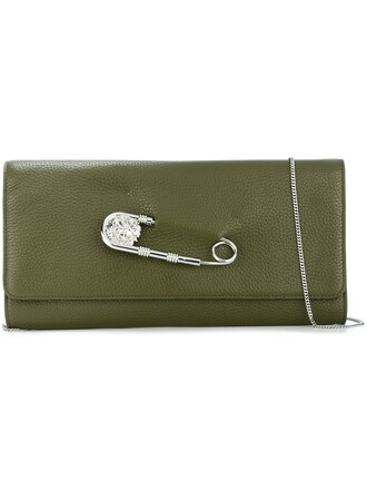 oversized women clutch green bag