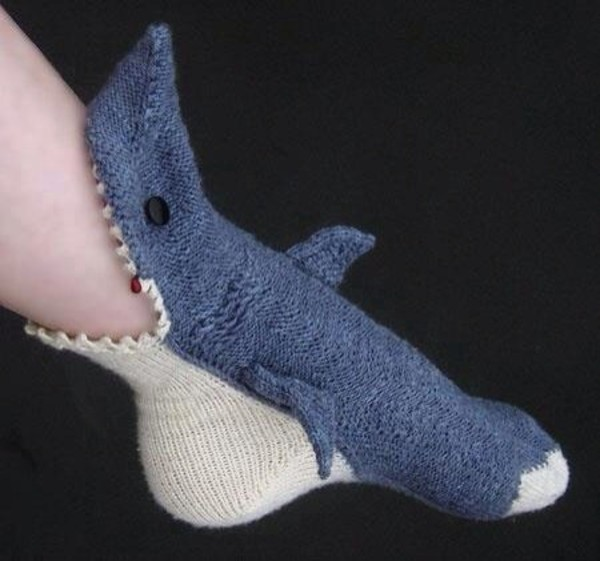 shoes socks cute shark