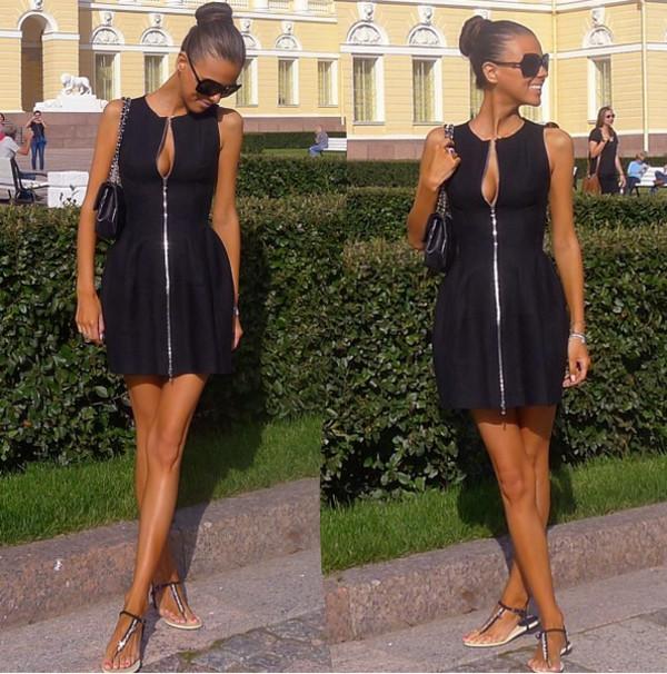 Фото платье с молнией