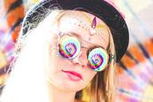 sunglasses,hippie glasses,rainbow,tie dye,subsonic festival,glasses,retro sunglasses
