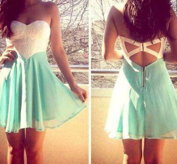 dress prom prom dress white dress backless blue dress light blue blue white lace dress lace zipper Open back dress sheer teal sweat heart sweetheart dresses sweetheart neckline wedding clothes party party dress homecoming dress