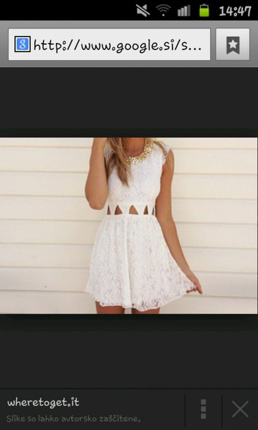 dress white dress cute dress