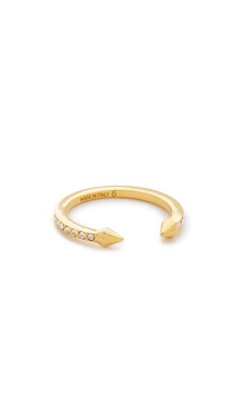 Vita Fede Super Ultra Mini Titan Crystal Ring - Gold/Clear