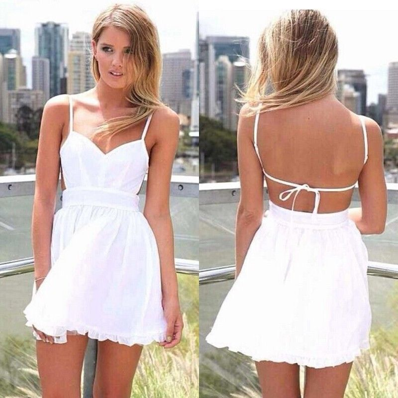 New Sexy Women Summer Sleeveless Party Evening Cocktail Short ... 2b3fb76f6
