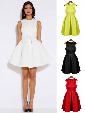 sundress white dress dress pleated red dress little black dress green dress casual dress mini dress shoes yellow neon