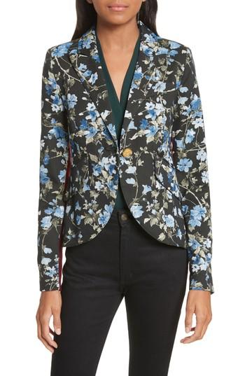 Smythe Tuxedo Stripe Floral Jacquard Blazer | Nordstrom