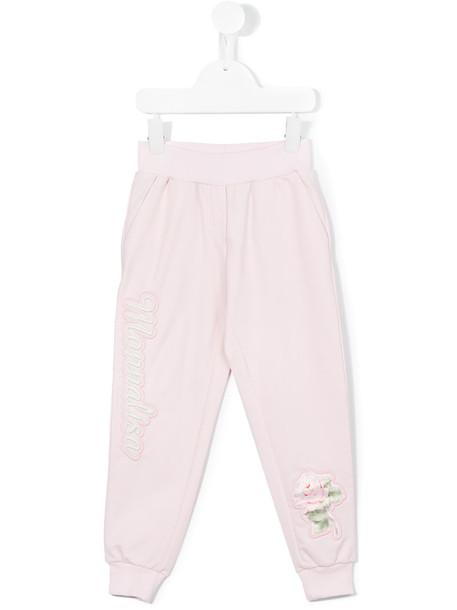 Monnalisa pants track pants spandex floral cotton purple pink