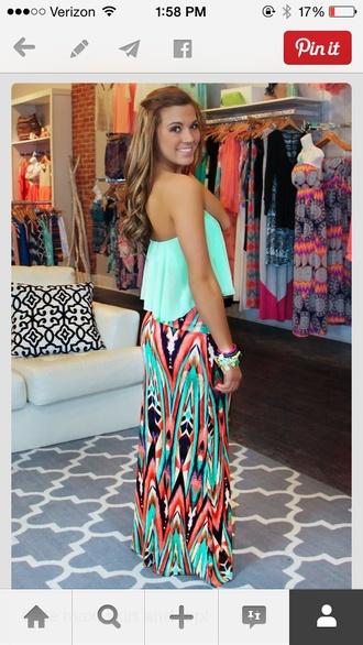 skirt maxi skirt bright adorable pinterest tank top red lime sunday
