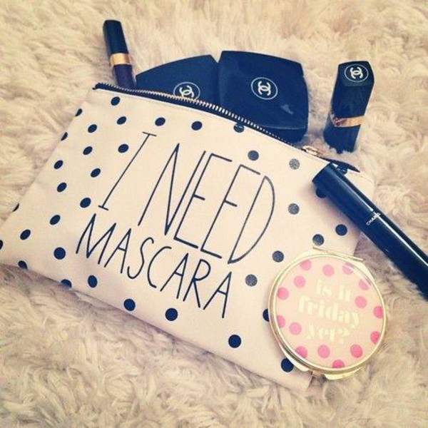 makeup bag mascara