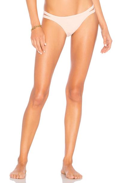 Seafolly Brazilian Bikini Bottom in blush