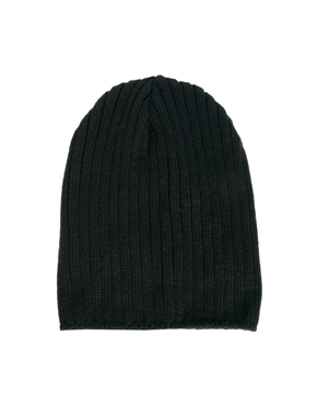 ASOS | ASOS Short Rib Knit Beanie at ASOS