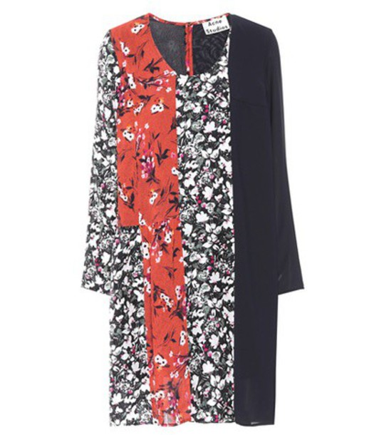 Acne Studios dress jersey dress floral