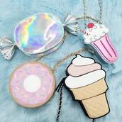 bag,sweet,sweets,ice cream,donut,cupcake,purse,pastel,kawaii,lolita,girly