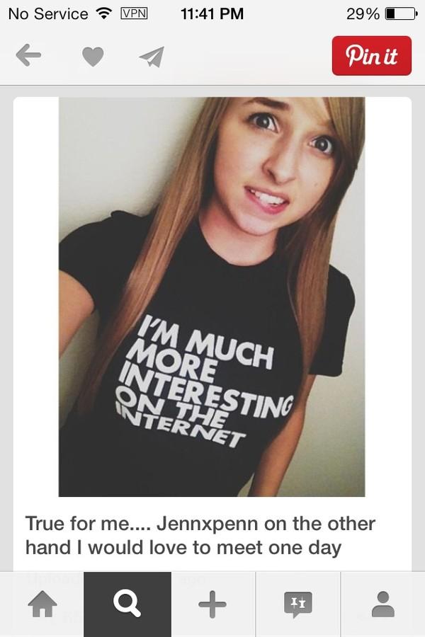 t-shirt jennxpenn internet youtuber