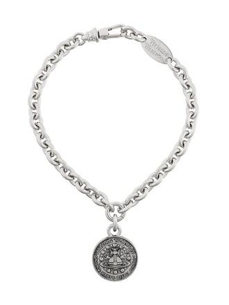 short metallic women necklace pendant jewels
