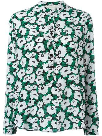 shirt floral shirt floral black top