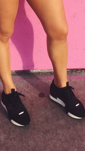 shoes black sneakers