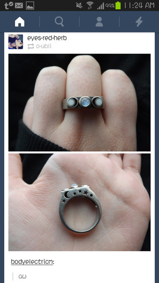 tumblr beautiful jewels ring moon phases
