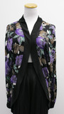 Dark flower cardigan (size