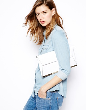 New Look | New Look Metal Bar Clutch at ASOS