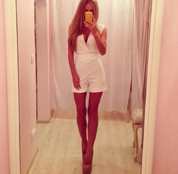 dress overalls overalls overalls party white cute white dress cute dress white skirt white top top skirt white jumpsuit short dress white outfit prom dress jumpsuit romper