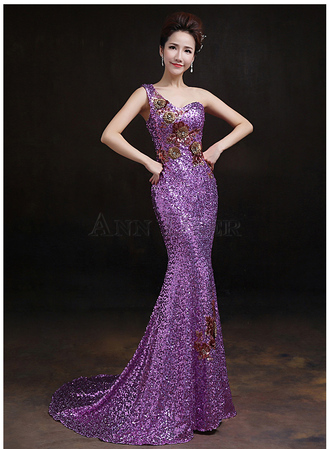 dress mermaid prom dress prom dress 2016 evening dress prom gown formal dress evening party dress sexy prom dress party dress gown formal evening party dresses one shoulder formal dresses purple prom dresses ball gowns