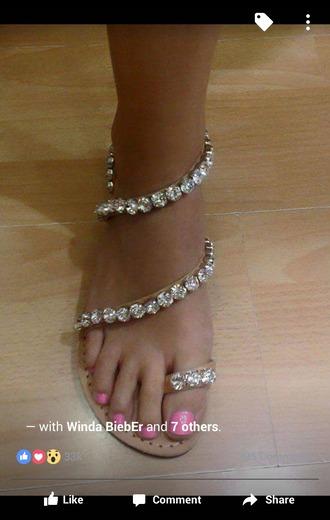 shoes flat sandals rhinestones sandals jeweled sandals sandals bling shoes rhinestones brown sandals with gems brown with gems