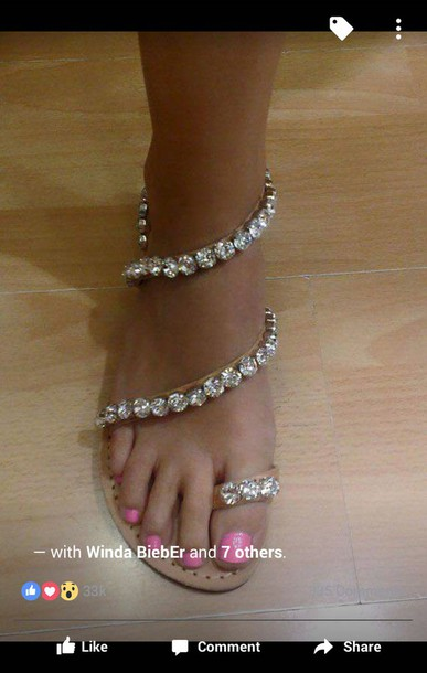 367a411f0 shoes flat sandals rhinestones sandals jeweled sandals sandals bling shoes  rhinestones brown sandals with gems brown