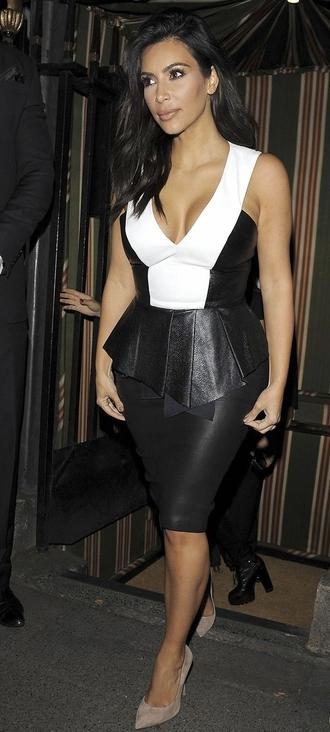 leather kim kardashian top