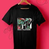 shirt,mtv logo flower t shirt,clothes,mtv,outfit,28719
