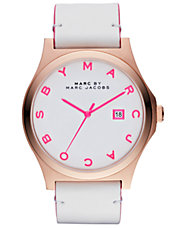 Women's rose gold and knockout pink watch