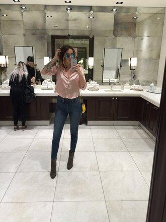 blouse shirt acacia brinley instagram twitter denim jeans