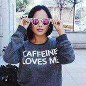 sweater,caffeine,loves me,cute