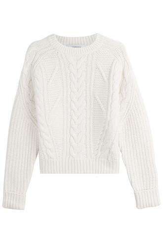 pullover wool beige sweater
