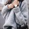 Fashion loose round neck knitted sweater top