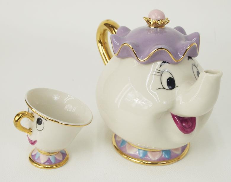 Disney Beauty And The Beast Teapot Mug Mrs Potts Chip Tea