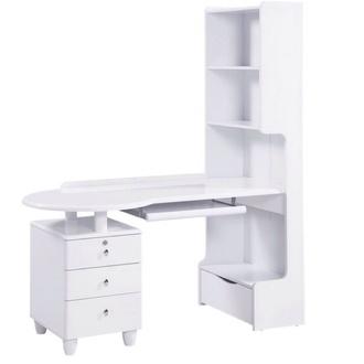bag white desk table study elegant home decor