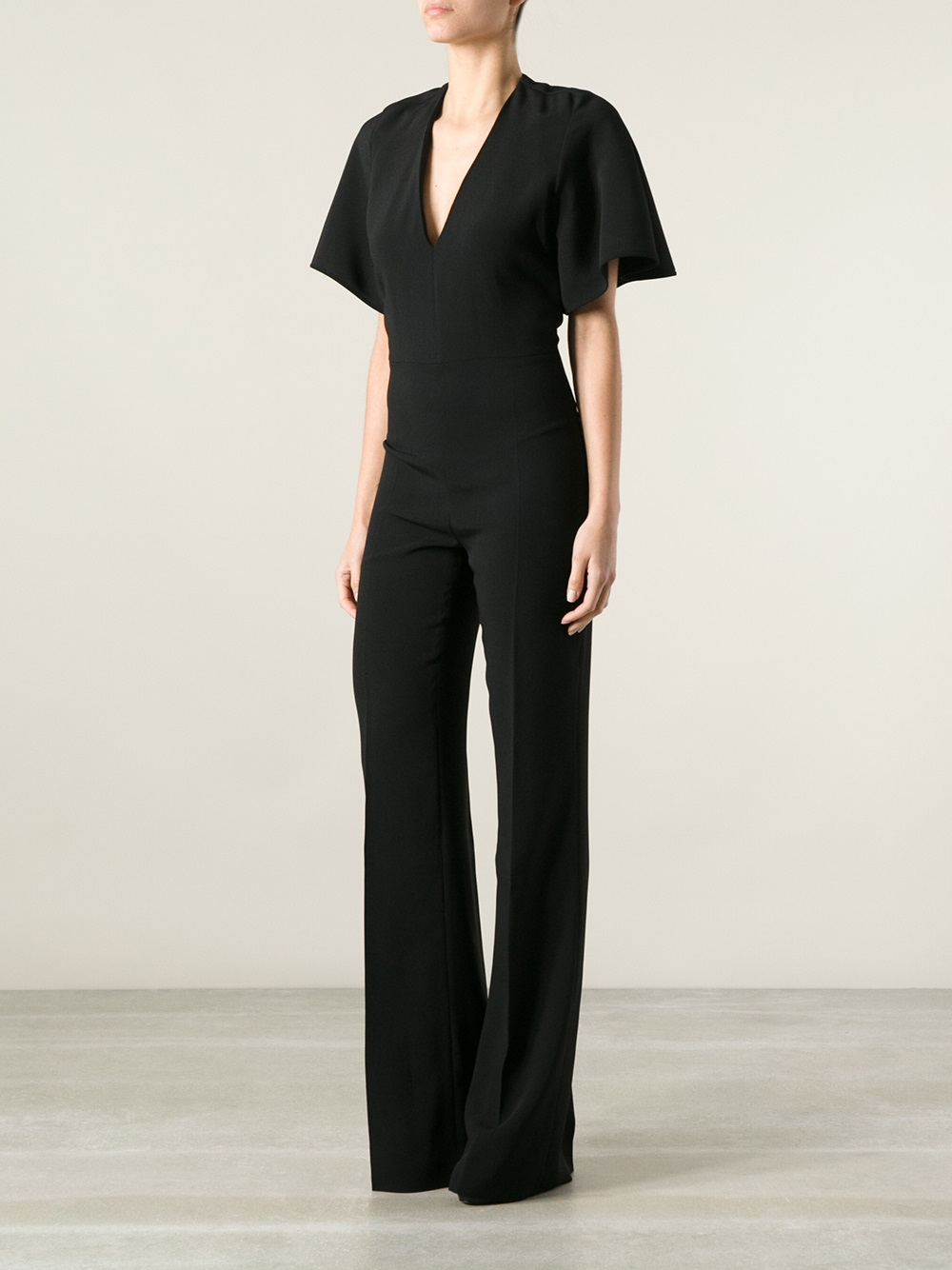 Stella Mccartney Flared Trouser Jumpsuit - Nida - Farfetch.com