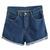 ROMWE | ROMWE Rolled-up Pocketed Blue Shorts, The Latest Street Fashion