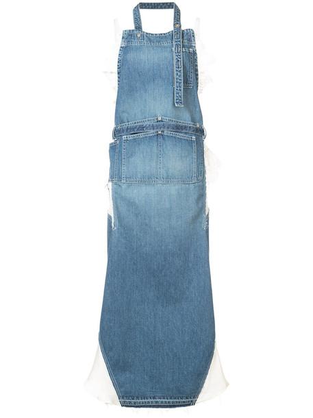 dress high women cotton blue