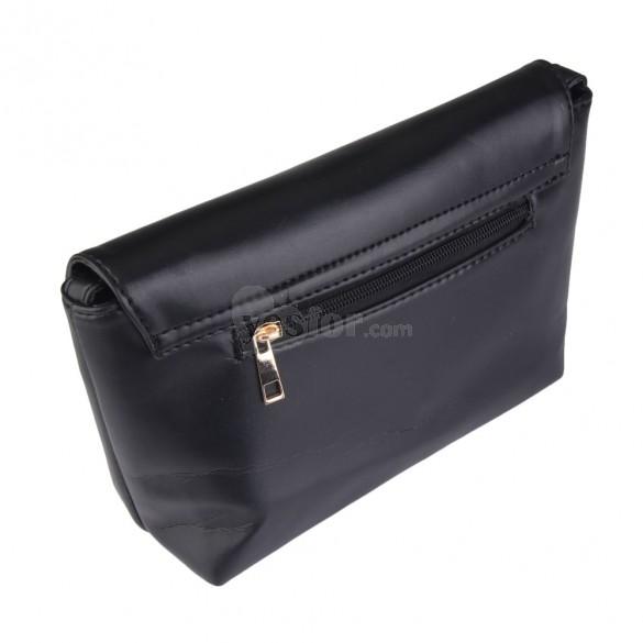 New Heart Little Bag Female Fashion Mini Shoulder Bag Messenger Bag Black, unit price of $11.88 only - Yesfor.com