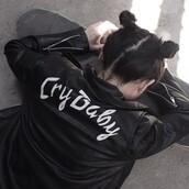 jacket,leather jacket,crybaby,cyber ghetto,soft ghetto,clothes,pastel goth,black,melanine martinez,black leather jacket,grunge,hipster,black jacket,white,90s style,vintage,cry baby