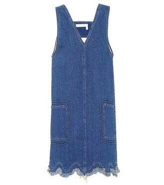 dress denim dress denim sleeveless blue
