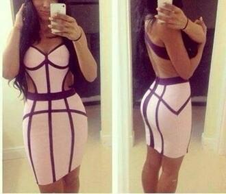dress cut out maxi dress bodycon dress stripes