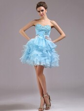 prom,prom dress,special occasion dress,bridesmaid,blue,blue dress,sky blue,sweetheart dress,strapless,strapless dress,cute dress,short,short dress