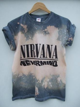 t-shirt acidwash nirvana t-shirt nirvana dipdye sweater dipdye nirvana nevermind nevermind wheretoget? iloveit material