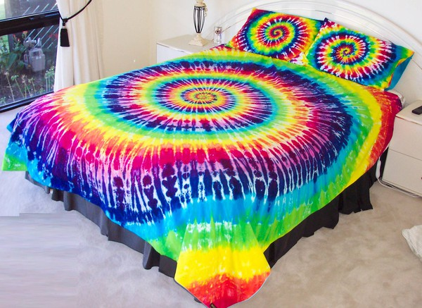 scarf bedding hippie rainbow tie dye