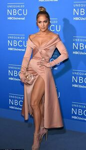 dress,bustier dress,nude,nude dress,jennifer lopez,midi dress,slit dress